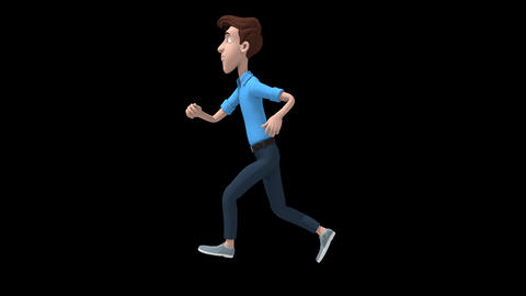 Cartoon Man Running Animation