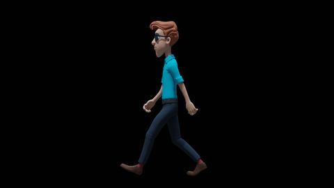 Cartoon Man Walking Animation