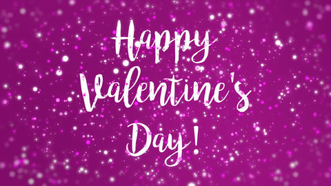 Animated magenta pink Happy Valentines Day greeting card Animation