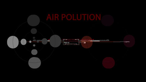 Simple 2d flat Abstract Background With word air polution in background Animation