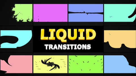 Smooth Liquid Transitions Motion Graphics Template