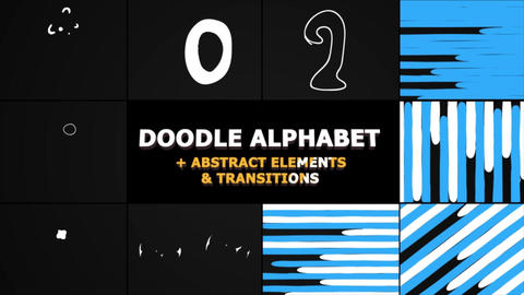 Cartoon Alphabet And Transitions Apple Motion Template