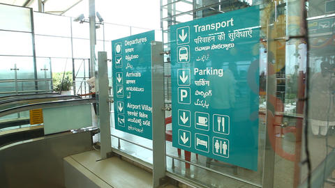 Airport sign board Live Action