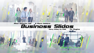 Corporate Slides folder After Effects Template
