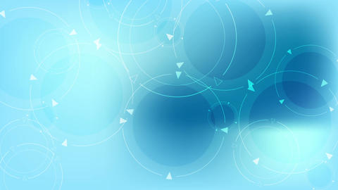 Abstract blue tech circles video animation Animation