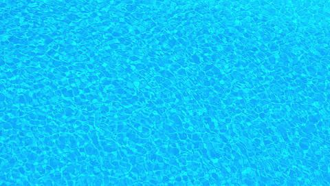 Rippling Water on the Surface of a Swimming Pool Footage