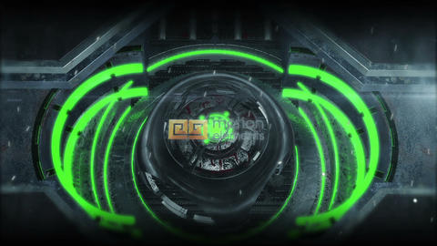Sci Fi Gate Logo (green presets) After Effects Template