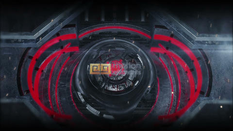 Sci Fi Gate Logo (red presets) After Effects Template
