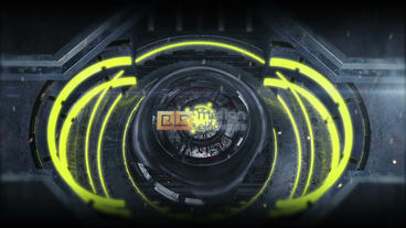 Sci Fi Gate Logo (yellow presets) After Effects Project