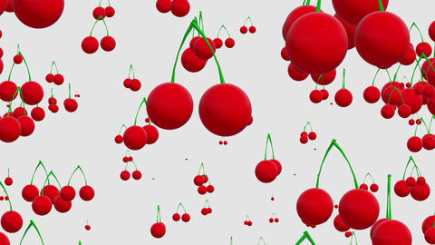 Cherries on white Animation