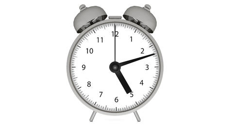 Alarm clock on white color Animation