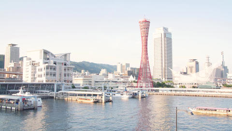 Kobe city harbour Timelapse Footage