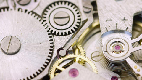 Extreme Closeup of a Wristwatch's Internal Workings Footage