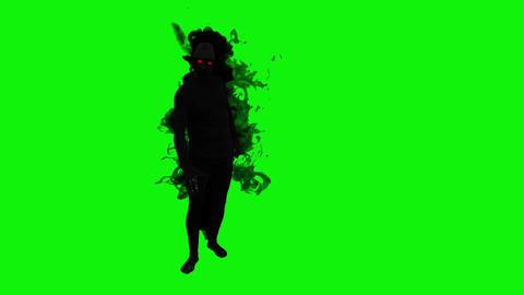 Green screen Shadow hatman Filmmaterial