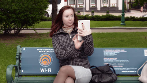 1080p Girl Taking Photo With Tablet Footage