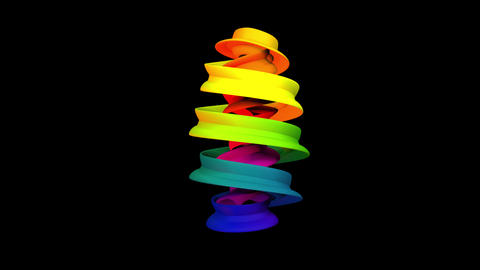 Spiraling Color Object Animation