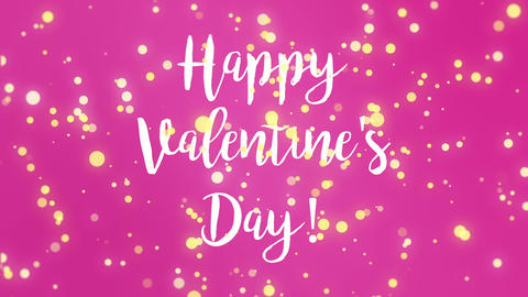 Animated colorful Valentines Day card Animation