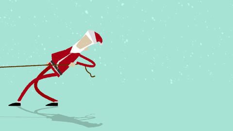Santa Pulling Logo After Effects Template