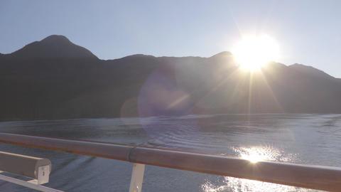 Alaska Summer Sunset - Cruise ship destination Alaska Inside Passage Live Action