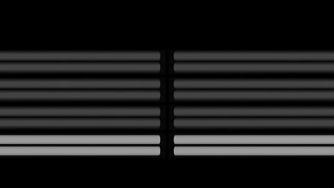 Fluorescent Lights Sequence Double Moving Seamlessly Looping Video Background Animation