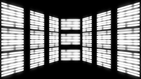 Fluorescent Lights Chase Multi Seamlessly Looping Video Background Animation