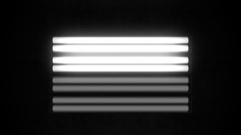 Fluorescent Lights Flicker Single Moving Seamlessly Looping Video Background Animation
