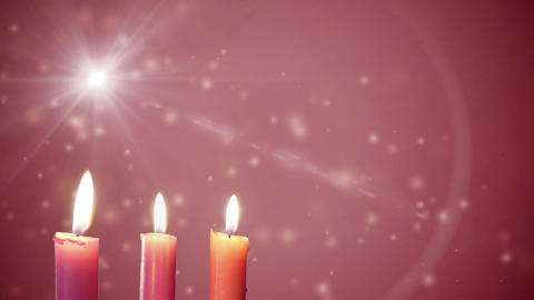 Third Sunday of Advent Candles Gaudete Seamlessly Looping Video Background Live Action
