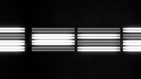 Fluorescent Lights Flicker Triple Moving Seamlessly Looping Video Background Animation