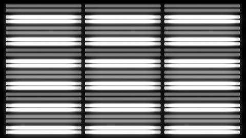 Fluorescent Lights Flicker Grid Seamlessly Looping Video Background Animation