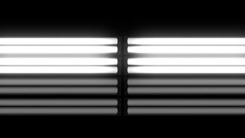 Fluorescent Lights Flicker Double Moving Seamlessly Looping Video Background Animation