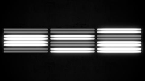 Fluorescent Lights Flicker Triple Seamlessly Looping Video Background Animation
