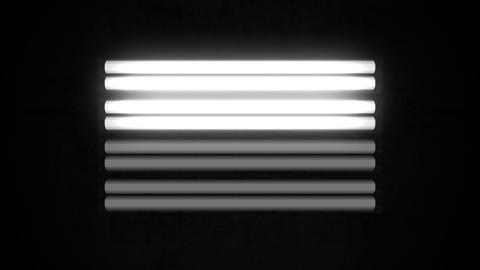 Fluorescent Lights Flicker Single Seamlessly Looping Video Background Animation