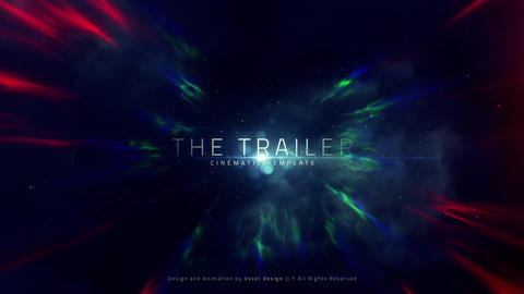The Trailer Title After Effects Template