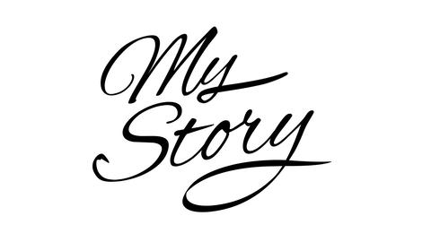 My Story. Calligraphic title with Alpha Channel Animation