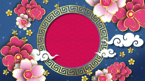 Chinese New Year Frame Background (Loop) Animation