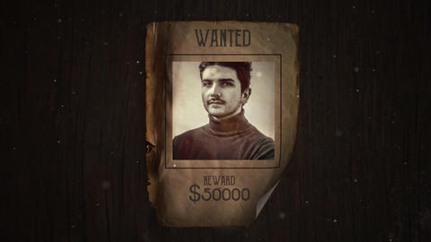 Wanted Apple Motion Template