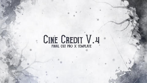 Cine Credit V 4 Apple Motion Template