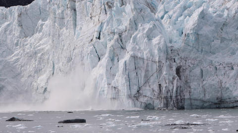 Glacier calving in Alaska - Global warming and climate change concept video Live Action