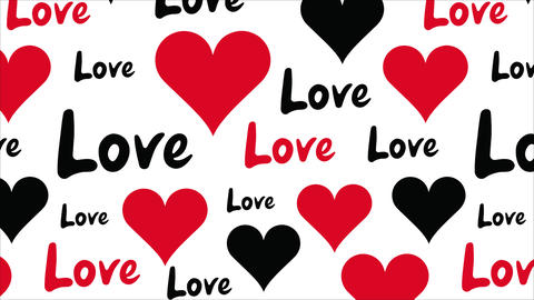 Love text on white background Animation
