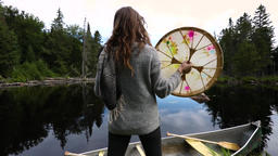 Sacred drumming spiritual canoe trip Live Action