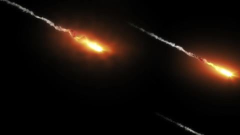 Missile meteor explosion smoke trail animation with alpha Animation