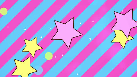 Fancy Stripe stars Animation