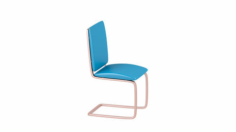 Modern leather dining chair Animation