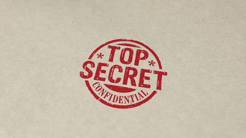 Top secret confidential stamp and stamping animation Animation