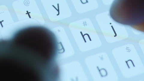 Hands typing text on smartphone close-up. Using smartphone close up at night Live Action