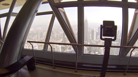 View of the Malaysian capital's sprawling cityscape from the observation deck Footage