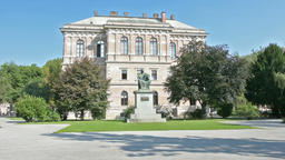 Accademia Palace croatian Academy of Sciences and Arts in Zagreb Footage