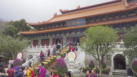 Po Lin Monastery at Lantau island, Hong Kong Footage
