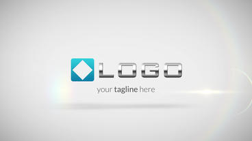 Simple Clean Business Logo Spin and Elegant Text Light Reveal Animation HD Intro After Effects Project