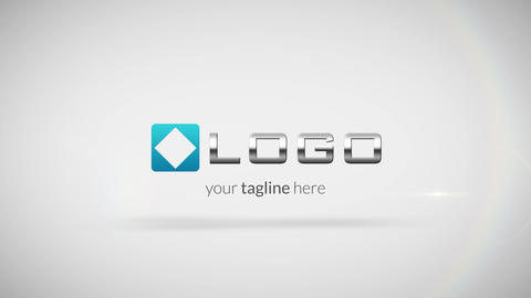 Simple Clean Business Logo Spin and Elegant Text Light Reveal Animation HD Intro After Effectsテンプレート